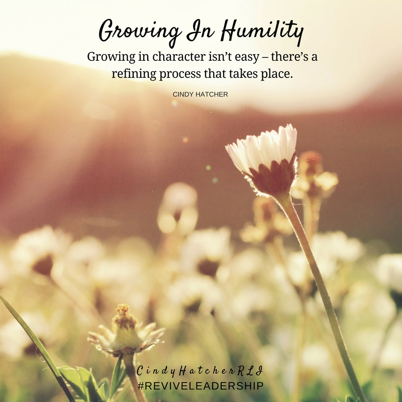 growing in humility - cindy hatcher