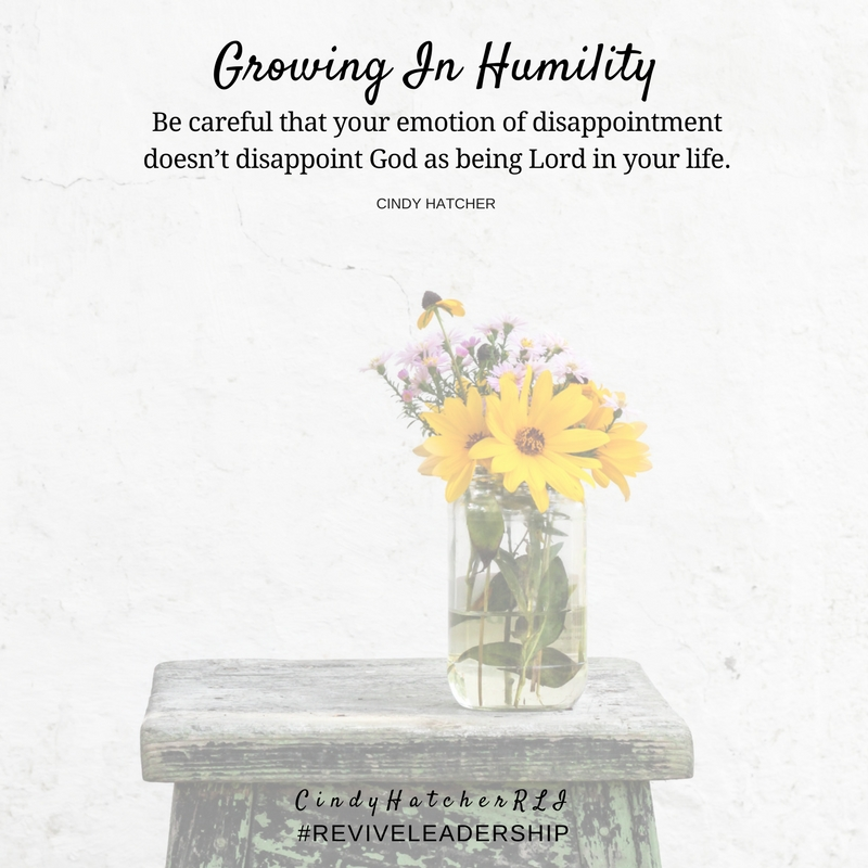 growing in humility part 2 -cindy hatcher